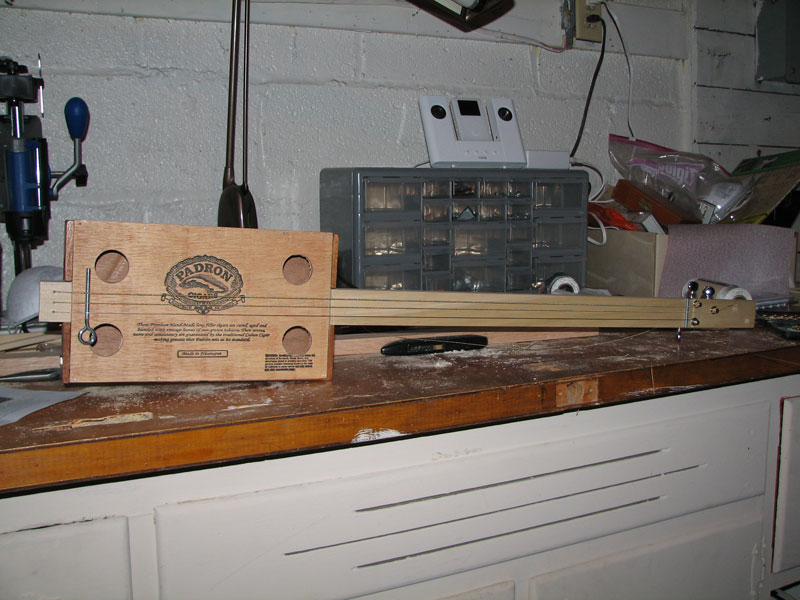Completed Cigar Box Guitar